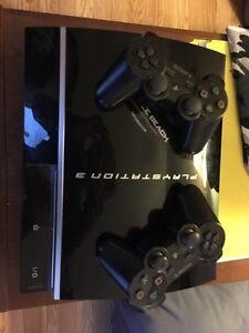 PlayStation 3 one with 2 controllers all the cords you need