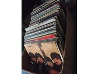 Vinyl records job lot includes several Beatles etc
