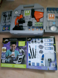 Kids microscope with accessories. Brand new used once