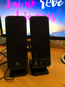 Logitech R-10 - speakers - For PC - wired Series