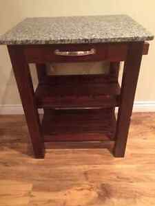 Wine rack with granite top