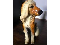 Vintage 1960s hound dog ceramic effect ornament collectable rare