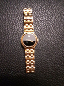 Designer Movado Watch Goldtone
