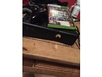 Xbox 360 with GTA 5 and pad