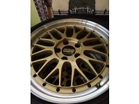 Genuine 18 inch BBS LM's on Goodyear