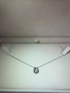 White Gold Jumping Diamond Necklace