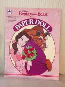 Disney Princess Paper Dolls circa 1991 (Lot of 3)