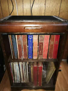 Vinyl 78s and 33s and an Antique Record Stand