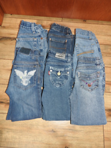 Six pairs size 5 girls jeans