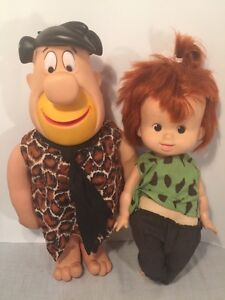 1980 Fred and Pebbles Flintstone Dolls