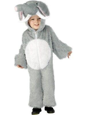 Smi - Karneval Kinder Kostüm Elefant Overall als Tier Größe 3-5 Jahre ()