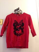 Red Minnie Mouse sweater size small