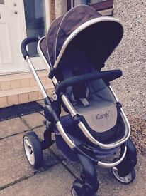 Icandy Peach Black Jack complete travel system