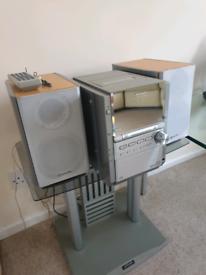 Panasonic SC-PM28 Micro System Stereo HiFi + optional stand