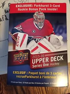 2015-16 upperdeck hockey young gun and inserts