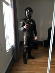 Suit combinaison one piece en cuir Moto Alpinestars