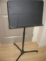 music stand and guitar stand