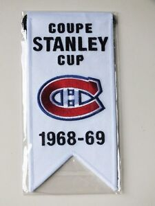 CENTENNIAL STANLEY CUP 1968-69 BANNER MONTREAL CANADIENS HABS Gatineau Ottawa / Gatineau Area image 1