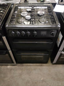 BLACK HOTPOINT 60CM WIDE FULL GAS COOKER
