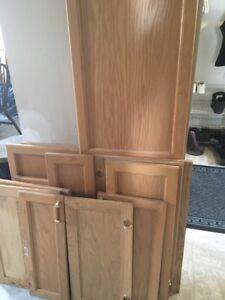 Various wooden cabinet doors