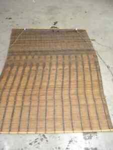 2 toiles vénitienne,store en bois de bambou de couleur brune
