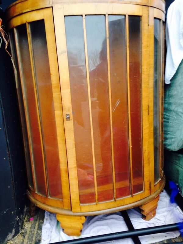 Gorgeous Deco Style Antique Display Cabinet In Wirral