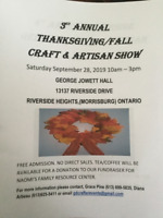 3rd Annual Thanksgiving/Fall Crafters & Artisan Show