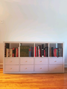 Bookshelf IKEA with 8 drawers / Etagere IKEA avec 8 tiroirs