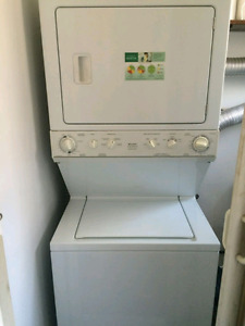 Stack washer dryer