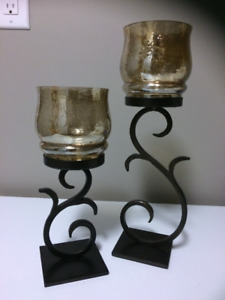 2 large tealight candle holders