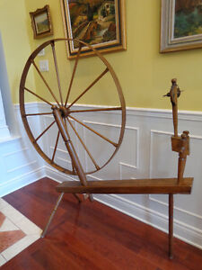 Grande roue à filer - Great Spinning Wheel Early 1900's