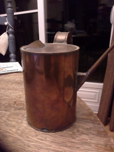Vintage Copper Oil Can.