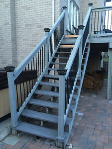 Disassembled Composite Balcony/Deck Stairs