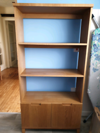 John Lewis Oak Veneer Bookcase
