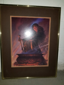 Framed print of witch