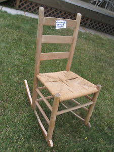 "antique ""shaker"" rocker, price reduced"