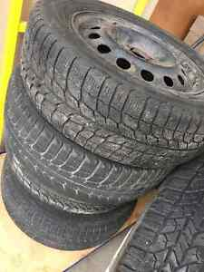 4 Michelin X-Ice Winter Tires 195/60R14  4x100 Kitchener / Waterloo Kitchener Area image 2