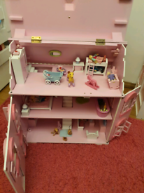 Girls ELC wooden doll play house