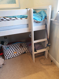 Kids bunk bed with pull out desk