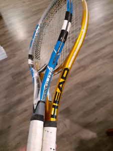 Two quality tennis rackets