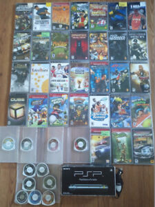 PSP 1001 boxed + 2 chargers + 42 games