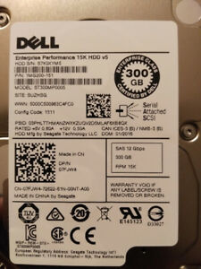 Dell 300GB SAS 12Gbps 15K 2.5inch