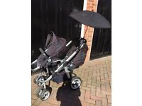 I candy double pear twin pushchair