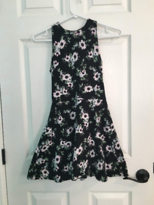 Black and Pink Floral Dress from H&M Clothing