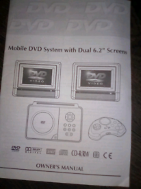 Mobile dvd system with 6.2 screen's