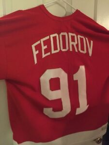 Detroit red wings Fedorov jersey XXL