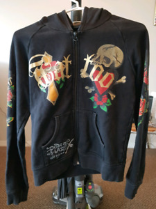 Ed Hardy Graphic Hoodie size Small