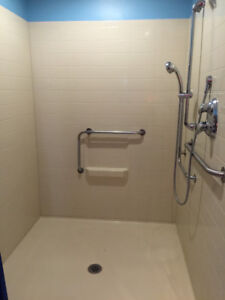 New Walk-in Shower - Great for In-Law/Granny Suite