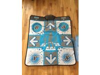 Dance Mat dance revolution xtreme dance pad platinum works with wifi pc USB Xbox ps2 tv play n play