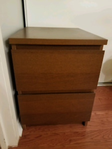 Ikea Malm 2-drawer chest, brown colour